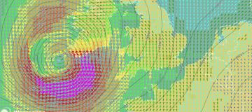 Orkaan Ophelia nadert Ierland