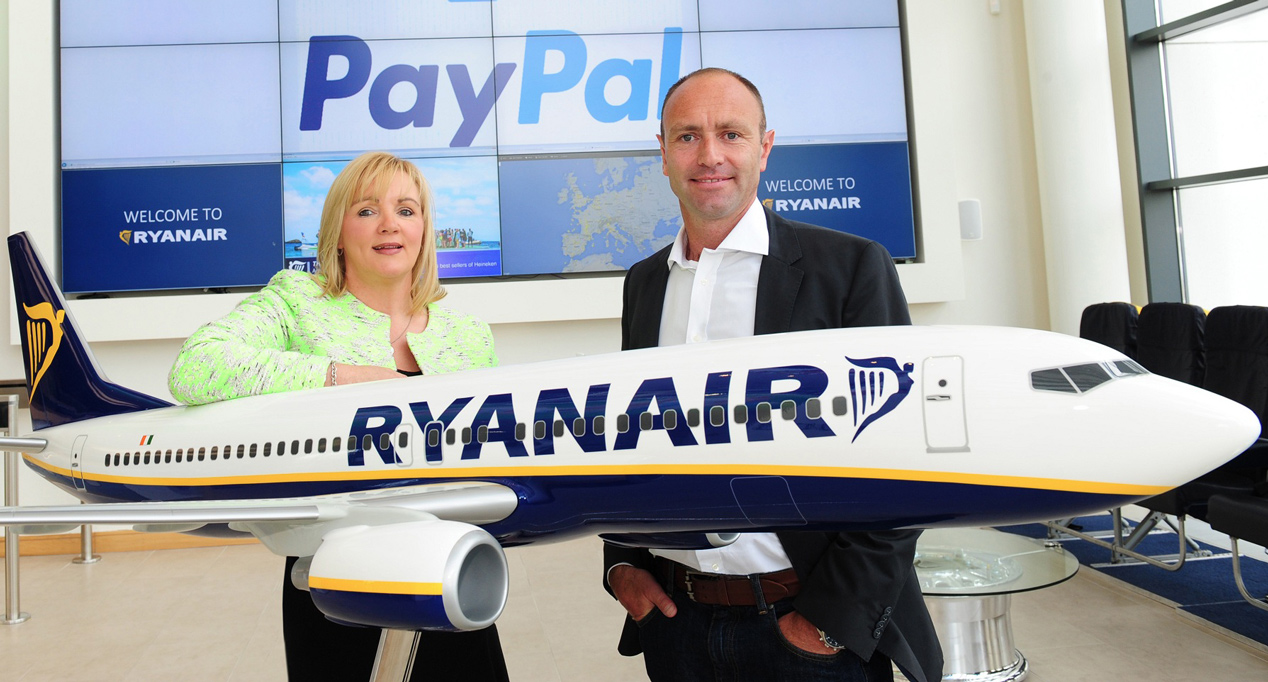 Ryanair: uitbreiding betalingsmogelijkheid met PayPal