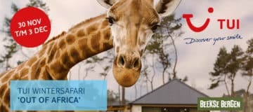 TUI Wintersafari 'Out of Africa' reisagentenweekend