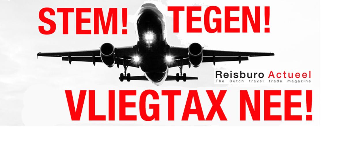Lancering actiesite tegen herinvoering vliegtax