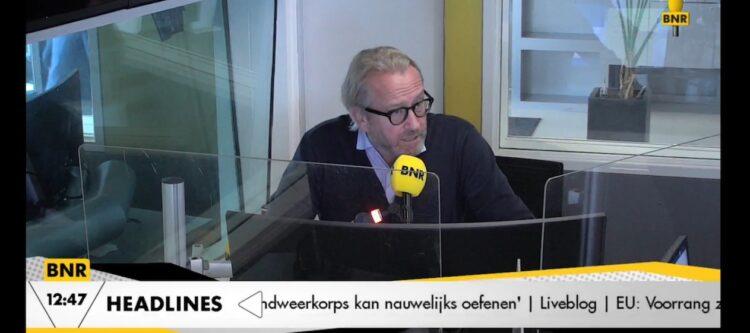 Arjan Kers, topman van TUI Nederland, bij BNR Nieuwsradio