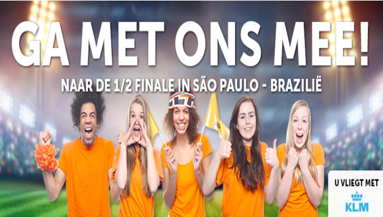 Corendon naar Brazilië bij plaatsing Oranje halve finale