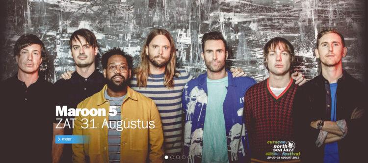 Maroon 5 naar Curaçao North Sea Jazz 2019