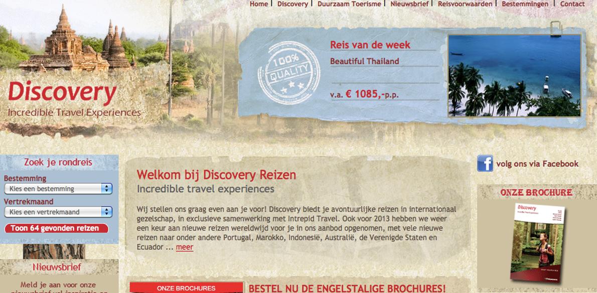 Discovery terug bij De Reisspecialisten Groep