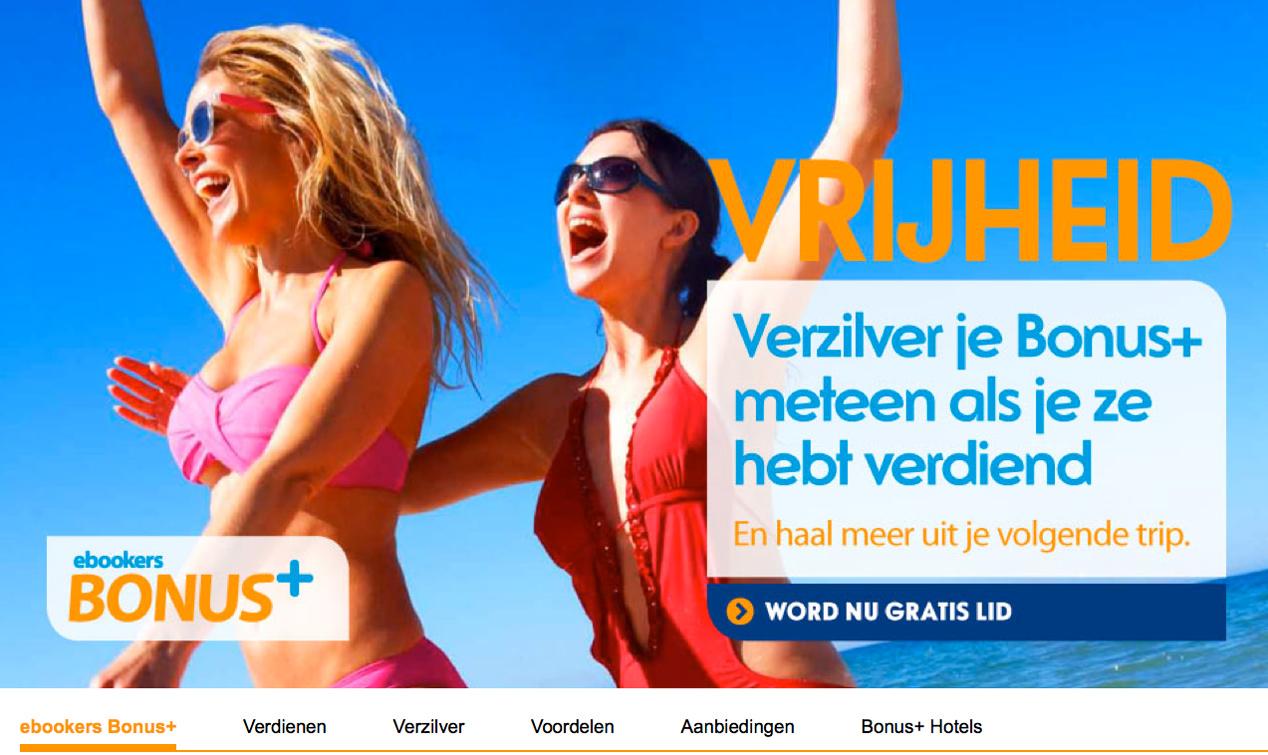 Ebookers.nl lanceert lanceert online loyaliteitsprogramma Bonus+