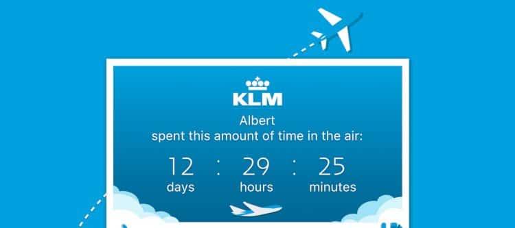 'Milestones' showt persoonlijke vluchthistorie in nieuwste KLM-app