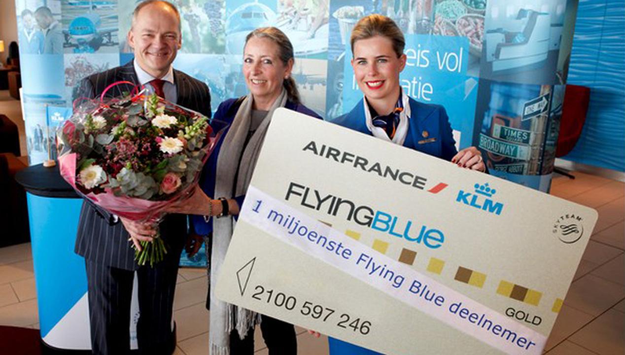 Miljoenste Flying Blue-deelnemer voor KLM
