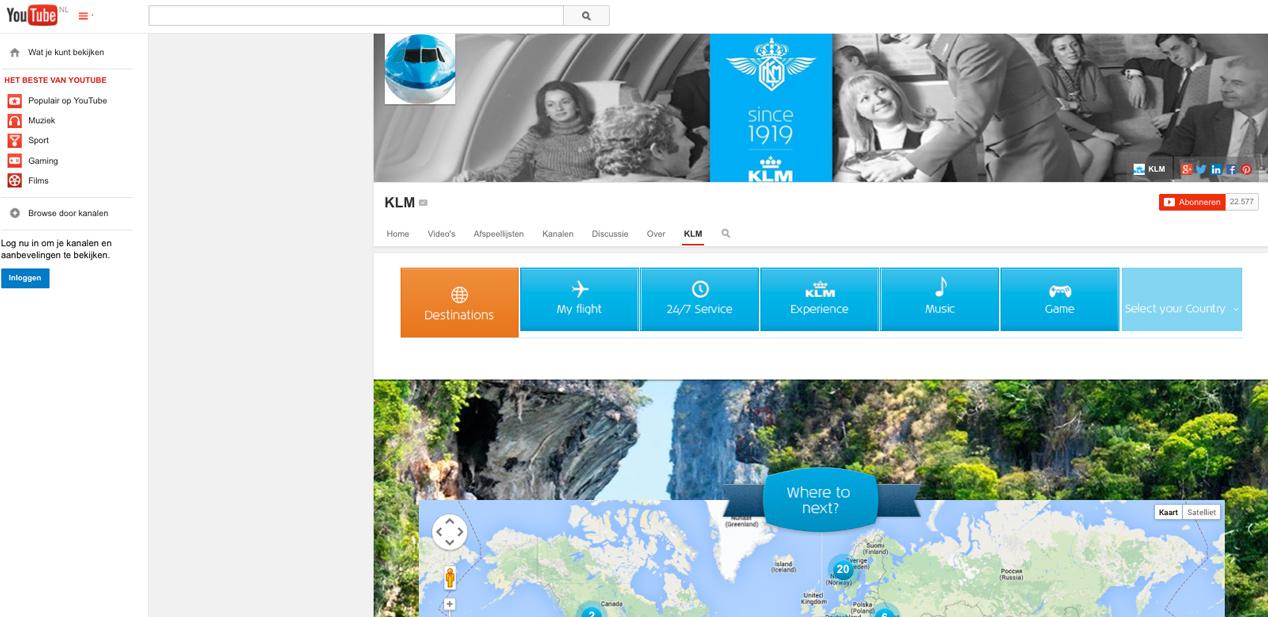 KLM lanceert een vernieuwd YouTube kanaal
