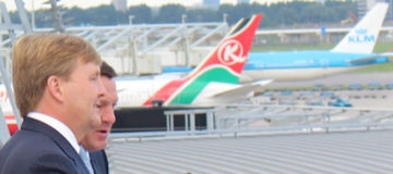 Koning Willem-Alexander co-piloot KLM-vlucht Istanbul