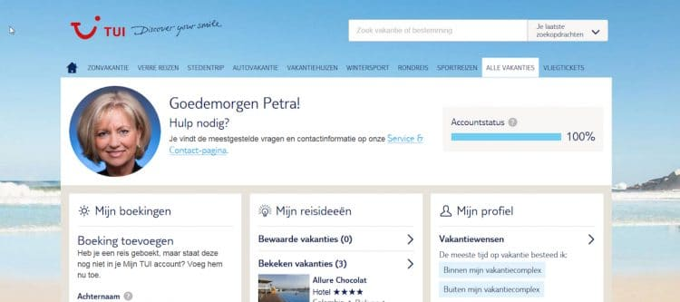 TUI lanceert nieuwe versie Mijn TUI en TUI.nl