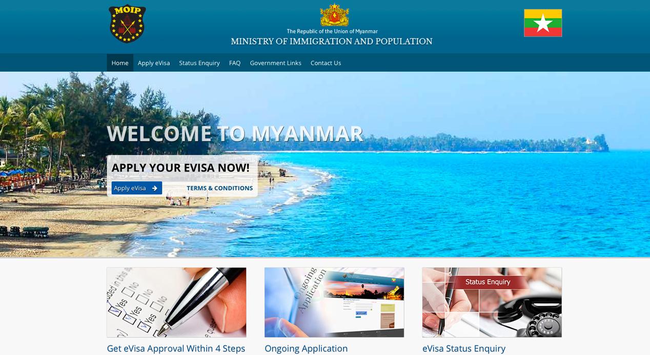 Myanmar introduceert toeristen e-visum