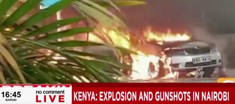 Live - Explosies en geweerschoten in het Dusit Nairobi (Kenia)