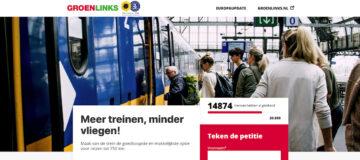 GroenLinks start petitie 'Meer treinen, minder vliegen!'