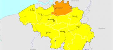 Reisadvies provincie Antwerpen naar oranje