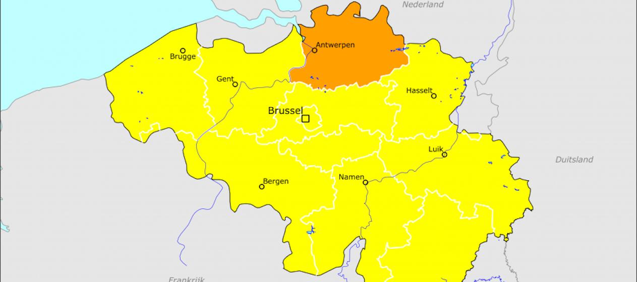 Belgie Plf En Oranje Reisadvies Voor Provincie Antwerpen Travelpro