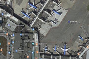 Slimme digitale toepassingen Google Maps voor Schiphol