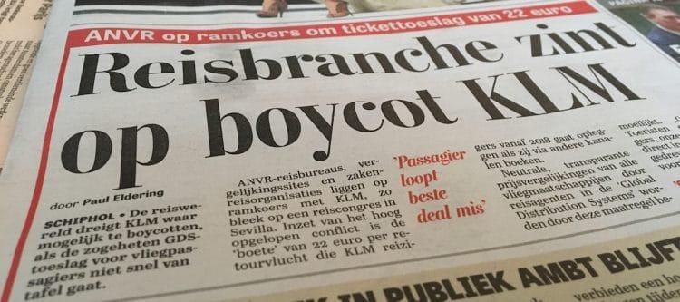 Geen KLM-boycot, liefde moet wel van twee kanten komen