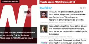 Twitter livestream ANVR Congres op reisburoactueel.nl